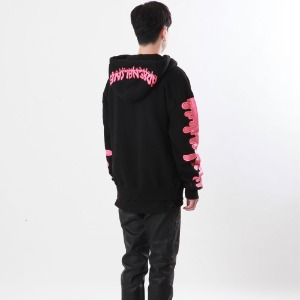 [Double adrenaline syndrome]signature bloody hoodie(pink)