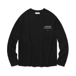 [viva studio] NEW BINAURAL LONG SLEEVE IA [BLACK]