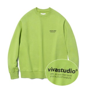 [viva studio] LOCATION LOGO CREWNECK IA [NEON YELLOW]