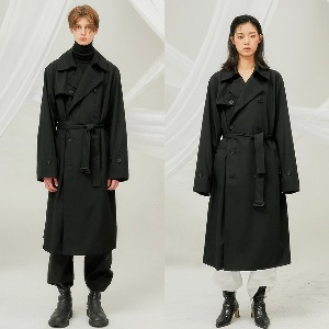 [FLARE] over trench coat (FL-012) - BLACK
