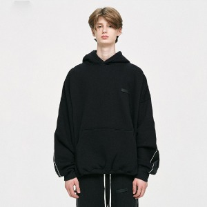 [D.PRIQUE] Piping Track Hoodie - Black