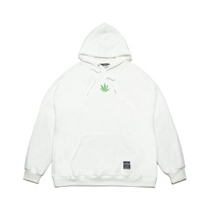 [STIGMA]LEAF OVERSIZED HEAVY SWEAT HOODIE - WHITE