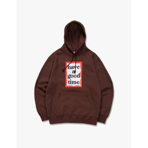 [have a good time] Frame Pullover Hoodie - Chocolate
