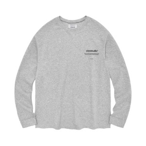 [viva studio] NEW BINAURAL LONG SLEEVE IA [MELANGE GREY]