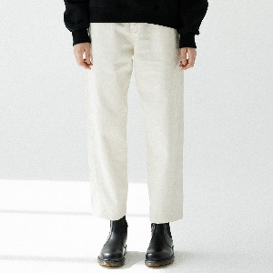 [ARDOROBE] NO TUCK CROP BANDING CHINO PANTS ALP193001-BG