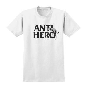 [Anti Hero] DOG HUMP S/S T-Shirt - WHITE / BLACK Print 51020273C