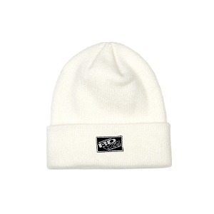 [RENDEZVOUZ] RECTANGLE LABEL BEANIE IVORY