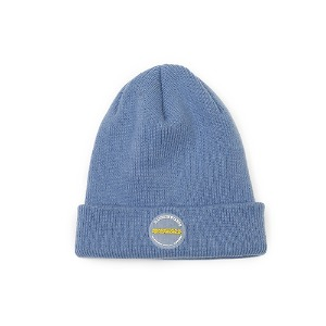 [RENDEZVOUZ] CIRCLE LABEL BEANIE SKYBLUE