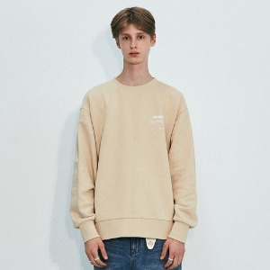 [비바스튜디오] NEW BINAURAL CREWNECK IA [BEIGE]