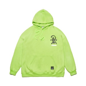[STIGMA]PLUMB OVERSIZED HEAVY SWEAT HOODIE  - NEON GREEN