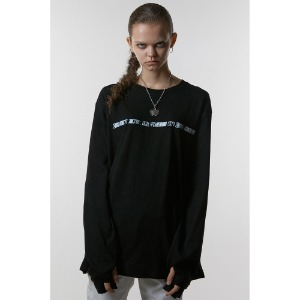 [ANOTHERYOUTH] sign warmer long sleeve - black