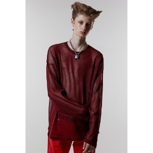 [ANOTHERYOUTH] mesh knit - red
