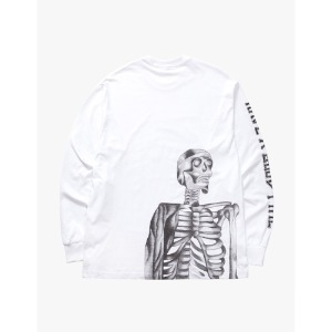 [have a good time] Bone Logo L/S Tee - White