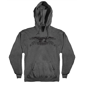[Anti Hero] BASIC EAGLE Pullover Hood - CHARCOAL HEATHER / BLACK Print 53120012U