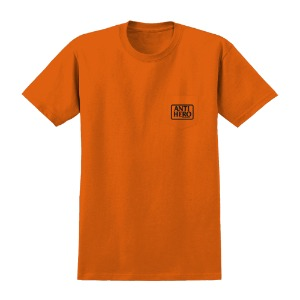 [Anti Hero] OUT OF ORDER RESERVE S/S Pocket T-Shirt - ORANGE / BLACK Prints 51020376