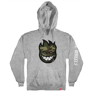 [Spitfire] BIGHEAD FILL HOMBRE CAMO Pullover Hood - GREY HEATHER / MULT-COLOR Prints 53110070B