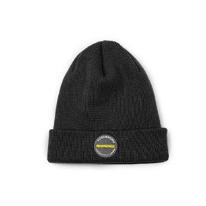 [RENDEZVOUZ] CIRCLE LABEL BEANIE BLACK