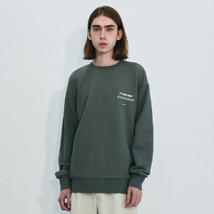 [viva studio] NEW BINAURAL CREWNECK IA [GREEN TEA]