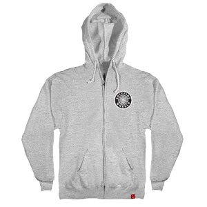 [Spitfire] OG CIRCLE PATCH Hooded Zip Up - GREY HEAHTER 53210105