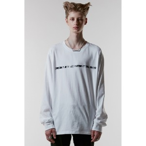 [ANOTHERYOUTH] sign warmer long sleeve - white
