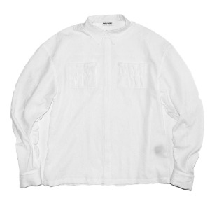 [XNADUWORKS] Shirring Shirts Creeze - White
