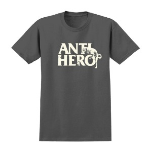 [Anti Hero] DOG HUMP S/S T-Shirt - CHARCOAL / DISCHARGE Print 51020273D