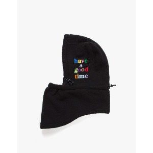 [have a good time] Fleece Full Face Mask - Black