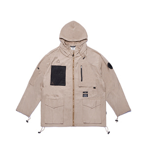 [STIGMA]WASHED TECH WINDBREAKER JACKET - BEIGE