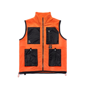 [STIGMA]FLIGHT FLEECE VEST - ORANGE