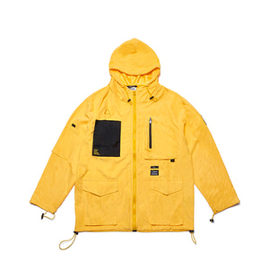 [STIGMA]WASHED TECH WINDBREAKER JACKET - YELLOW