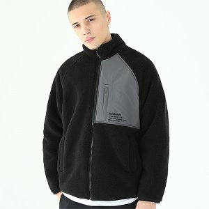 [TENBLADE] Mikkeli fleece zipup-black