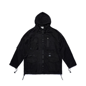 [STIGMA]WASHED TECH WINDBREAKER JACKET - BLACK