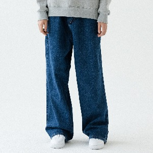 [ARDOROBE] WASHING BANDING WIDE DENIM PANTS ALP193003-BL