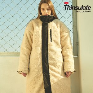 [ANOUTFIT] UNISEX OVERFIT 3M THINSULATE FLEECE LONG JUMPER IVORY