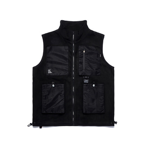 [STIGMA]FLIGHT FLEECE VEST - BLACK