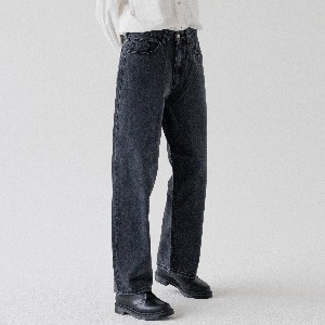 [ARDOROBE] WASHING WIDE DENIM PANTS ALP193005-BK