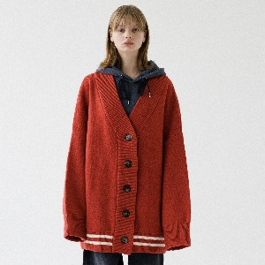[ARDOROBE] UNISEX DROWING ROSE HEAVY WOOL CADIGAN ACD193001-OR