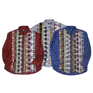 [RUNDS] ribbon check shirt (3color)