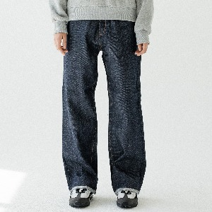 [ARDOROBE] WASHING WIDE DENIM PANTS ALP193004-SV