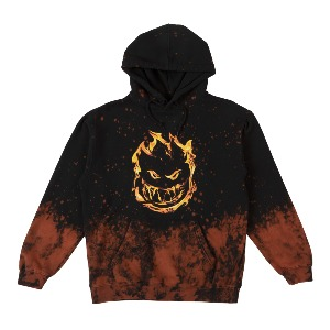 [Spitfire] 451 Pullover Hooded Sweatshirt - BLACK ACID WASH 53110059B