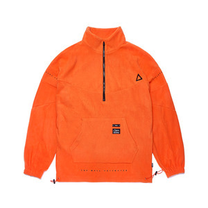 [STIGMA]TRIANGLE FLEECE OVERSIZED ANORAK JACKET - ORANGE