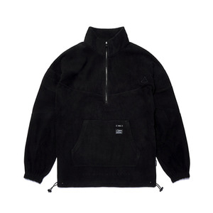 [STIGMA]TRIANGLE FLEECE OVERSIZED ANORAK JACKET - BLACK
