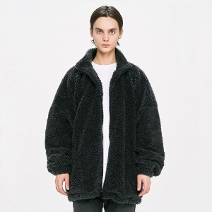 [D.PRIQUE] Oversized Shearling Jacket - Grey