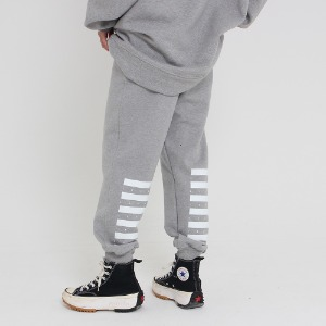 [UNCOMMEN/언커맨] UCN SIMPLE RECTANGLE TRACK PANTS_GRAY