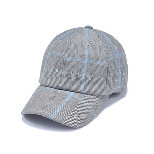 [STIGMA]GL CHECK BASEBALL CAP - BLUE GREY