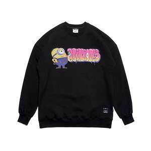 [STIGMA]MINIONS OVERSIZED HEAVY SWEAT CREWNECK - BLACK