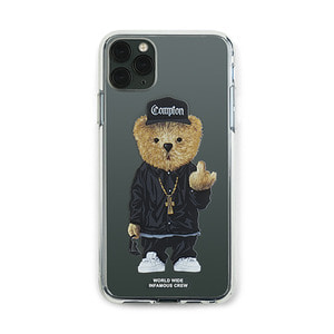[STIGMA]PHONE CASE COMPTON BEAR CLEAR iPHONE 11 / 11 Pro / 11 Pro Max