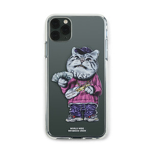 [STIGMA]PHONE CASE CATSGANG CLEAR iPHONE 11 / 11 Pro / 11 Pro Max