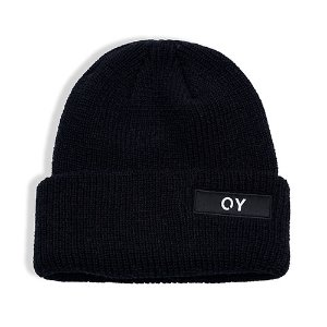 [OY] LOGO LONG BEANIE-BLACK