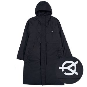 [OY] LOGO BLOCK LONG PARKA-BLACK